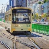 La linea tranviaria di Hankai a Osaka Fotografia Stock