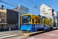 La linea tranviaria di Hankai a Osaka Fotografia Stock Libera da Diritti