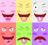La lingua riceve il vettore di sapore Fotografia Stock