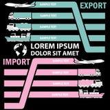 La linguetta di colore del trasporto per aggiunge il testo di informazioni di affari Fotografia Stock Libera da Diritti