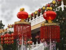 La linterna colorea la celebración china en su Lai Temple Foto de archivo