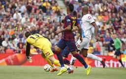 La Lionel Messis FC Barcelone V Corogne Liga - Spanien Lizenzfreie Stockbilder