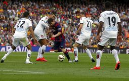 La Lionel Messis FC Barcelone V Corogne Liga - Spanien Stockbilder