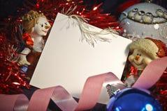 La liste dans Noël décorent Image stock