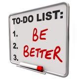 La liste de remue-ménage soit panneau sec d'effacement de meilleurs mots Images stock