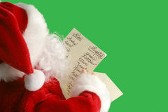 La liste de Santa Photo libre de droits