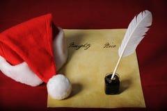 La liste de Santa Image stock