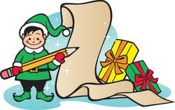 La liste de Santa Image libre de droits