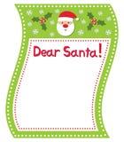 La liste de Santa Photos stock