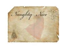 La liste de Santa Photographie stock