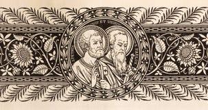 La lithographie de St Peter et de Paul photographie stock libre de droits