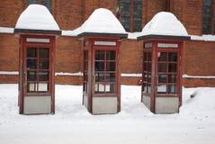 La Lithuanie, Kaunas, cabine de téléphone image libre de droits