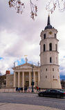 2017-02-25 la Lithuanie, la basilique de cathédrale de Vilnius une Bell, la belle ville de Vilnius vieille et le beau jour, Photos libres de droits
