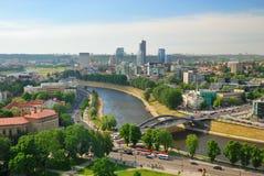 La Lituania. Città di Vilnius. Orizzonte della città Fotografia Stock