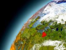 La Lituania dall'orbita di Earth di modello Immagini Stock Libere da Diritti