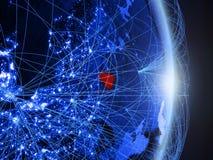 La Lituania su terra digitale blu blu immagine stock libera da diritti