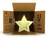 La livraison d'or de produit d'étoile de vacances Image libre de droits