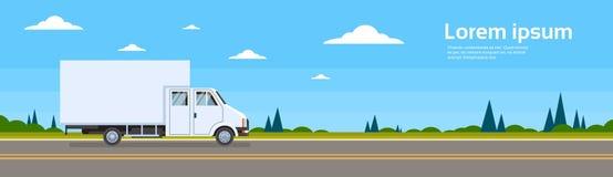 La livraison d'expédition de Lorry Car On Road Cargo de camion Photographie stock