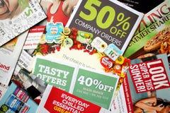 La livraison d'imprimé publicitaire image stock