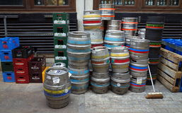 La livraison de bière à Londres Photographie stock libre de droits