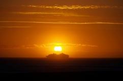 La livraison de coucher du soleil Photos stock
