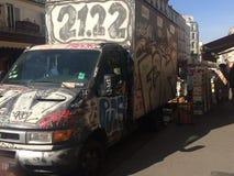 La livraison de graffiti images stock