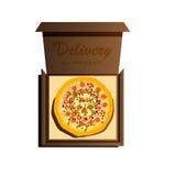 La livraison de la pizza la plus délicieuse au monde Image libre de droits
