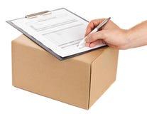 La livraison de paquet Photo stock
