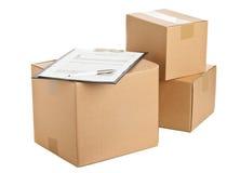 La livraison de paquet Photos stock