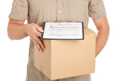 La livraison de paquet Images stock