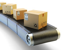 La livraison de paquets et concept d'expédition de service de messagerie Photos stock