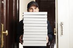 La livraison de pizza Photographie stock libre de droits