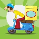 La livraison de scooter Photos stock