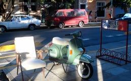 La livraison de scooter Photo libre de droits