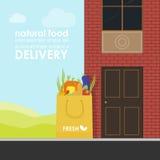 La livraison des produits naturels illustration de vecteur