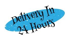 La livraison en 24 heures de tampon en caoutchouc Photographie stock
