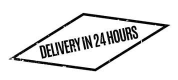 La livraison en 24 heures de tampon en caoutchouc Photos stock