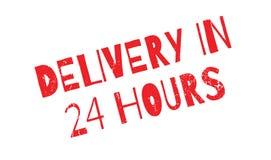 La livraison en 24 heures de tampon en caoutchouc Images stock