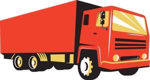 La livraison fermée Van Truck Retro Image libre de droits