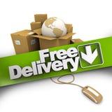 La livraison gratuite de commerce électronique Photographie stock