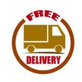 La livraison gratuite embarquant l'insigne rouge Image libre de droits