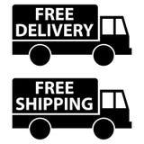 La livraison gratuite et expédition Photo stock