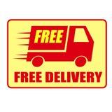 La livraison gratuite jeûnent camion Photos libres de droits