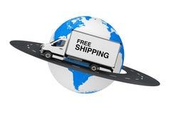 La livraison industrielle commerciale blanche Van Truck de cargaison avec S gratuit Photos stock