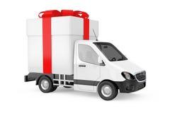 La livraison industrielle commerciale blanche Van Truck Loaded de cargaison avec illustration libre de droits