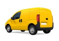 La livraison jaune Van Isolated Images libres de droits