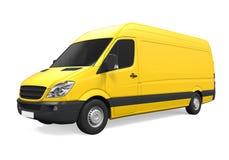 La livraison jaune Van Isolated Photos stock