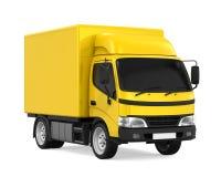 La livraison jaune Van Isolated Photo libre de droits