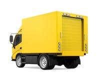 La livraison jaune Van Isolated Images stock