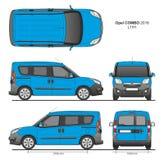 La livraison L1H1 Van professionnelle d'Opel Combo 2016 Photos stock